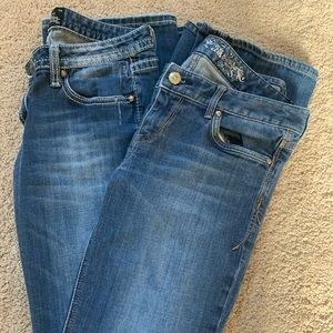 Two pairs of Express Boot Cut Jeans size 6R